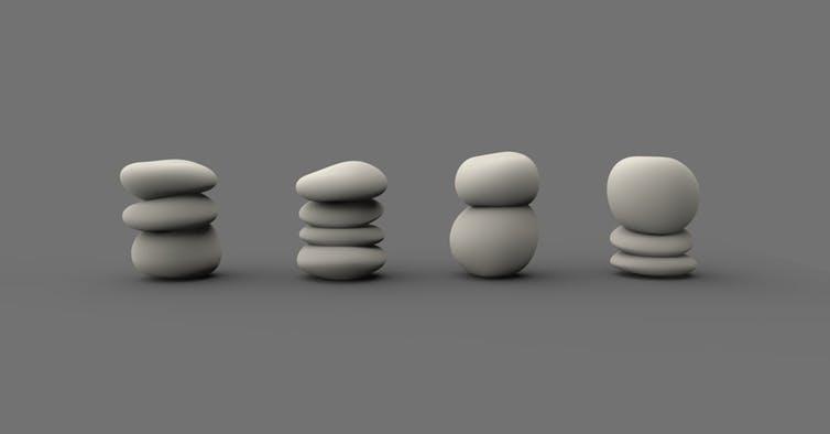 Rendering digitale delle gambe del tavolino di Berto Pandolfo