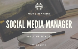 JOB OPENING: Medaarch cerca social media manager full-time
