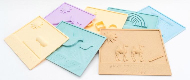 Braille e libri illustrati con stampa 3D aiutano i bambini ciechi a leggere