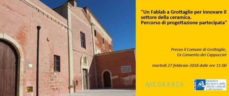 La Medaarch in Puglia, ad avviare la co-progettazione del Fablab di Grottaglie.