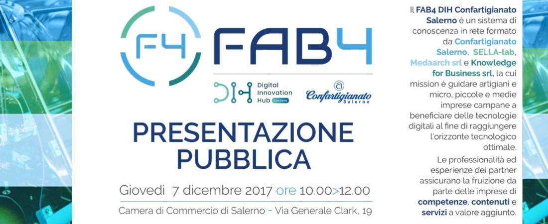 Il 7 dicembre inaugura il FAB4 Digital Innovation Hub Confartigianato Salerno