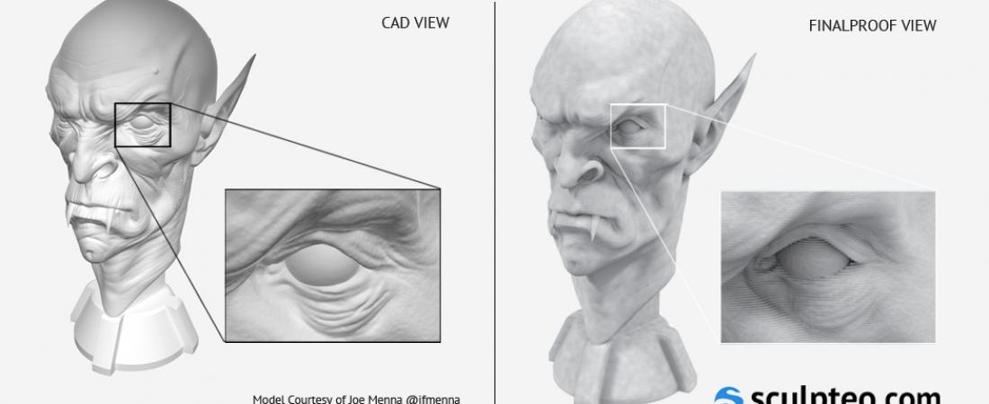 Sculpteo lancia FinalProof, il programma più realistico di anteprima di stampa 3D