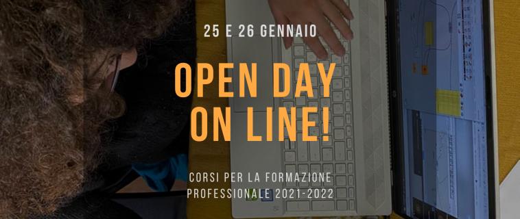 25 e 26 gennaio: OPEN DAY ONLINE Presentazione programma formativo 2020-2021