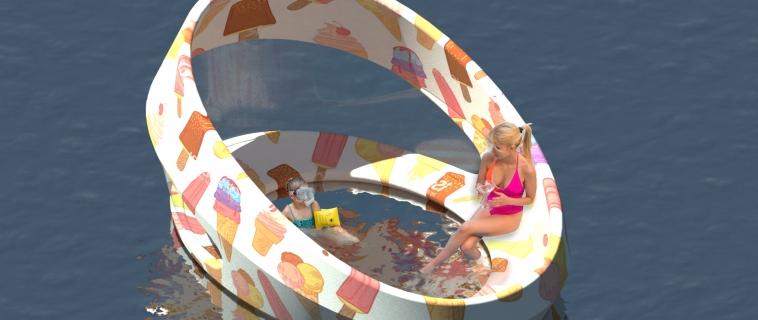 Hull Beach: il gioco gonfiabile per garantire il distanziamento sociale a mare