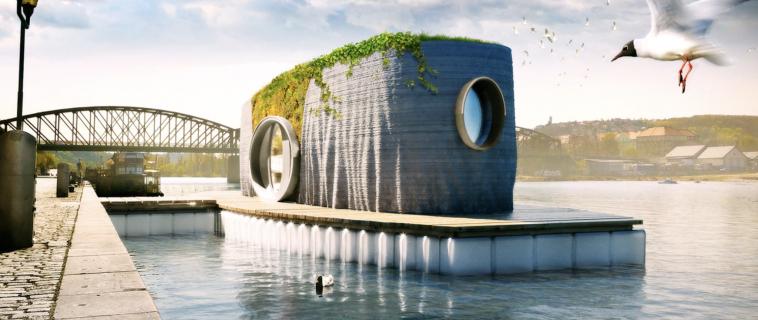 Prvok: la casa galleggiante stampata in 3D in 48 ore