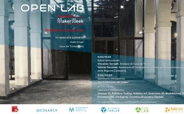 Open Lab: artigiani, scuole e makers si incontrano il 3 giugno a Cava de' Tirreni