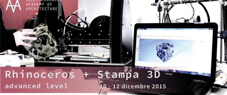 Rhinoceros + Stampa 3D: dal 10 al 12 dicembre 2015 al Mediterranean FabLab