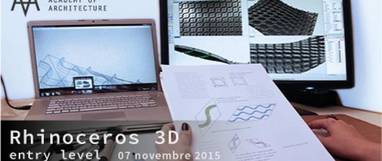 Corso base Rhinoceros 3D – sab 7 novembre 2015 al Mediterranean FabLab