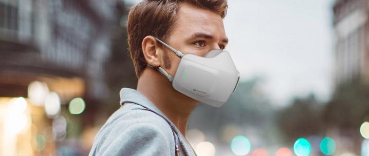 La società LG crea un'innovativa visiera con sistema di purificazione