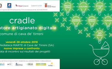 """""""Nuove imprese a confronto"""", venerdì 28 ottobre 2016 alla Mediateca MARTE di Cava de' Tirreni"""