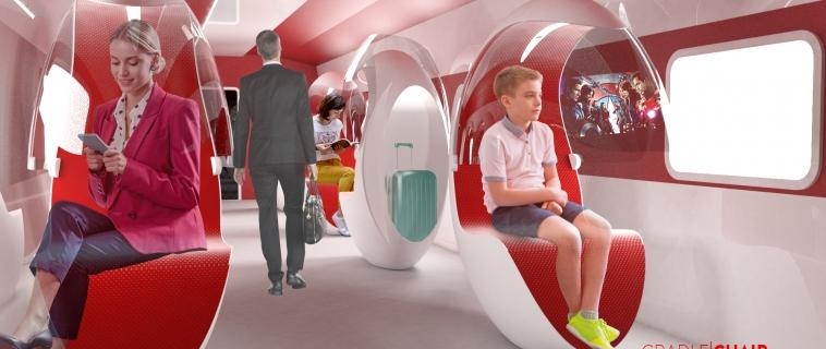 Cradle Chair: la seduta per il trasporto che fa da visore e aspiratore